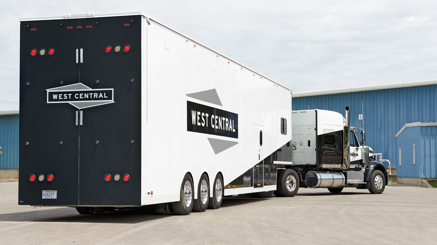 West Central Distribution truck